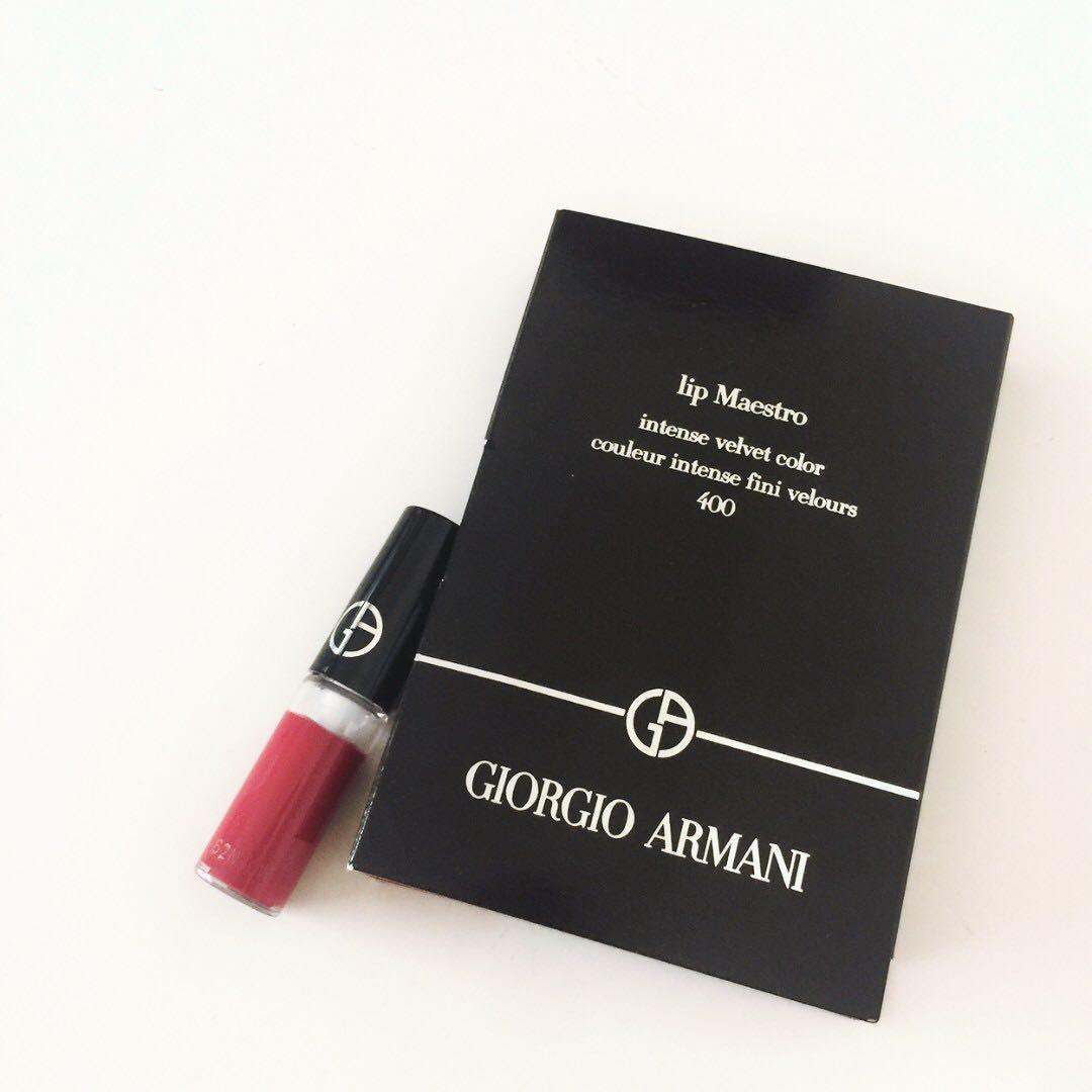全新/GIORGIO ARMANI 亞曼尼GA奢華絲絨訂製唇萃 精巧版1.5ml #400