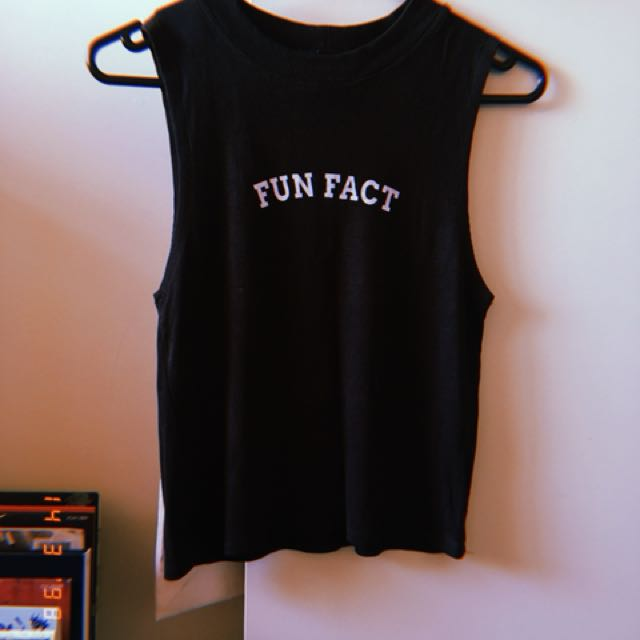 glassons 'don't care' graphic sassy crop top