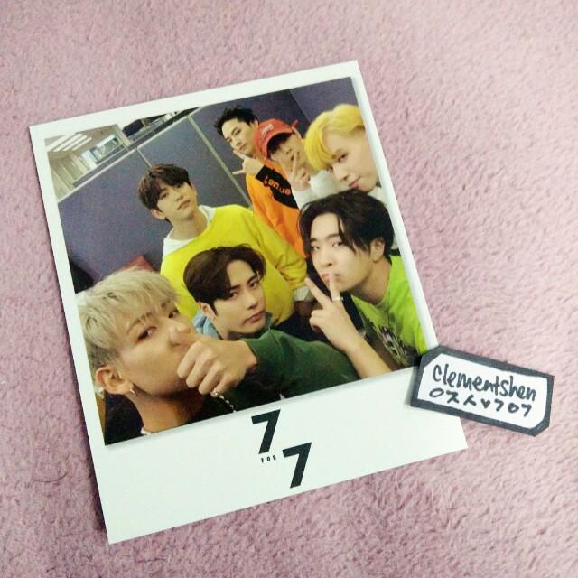 GOT7 7 For 7 Taiwan Limited Polaroid