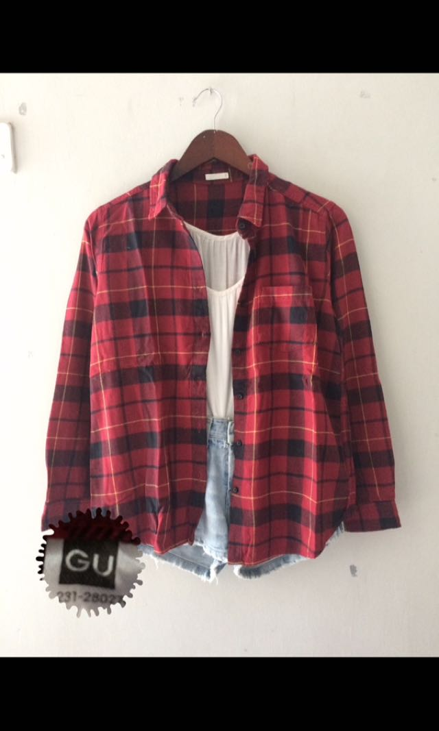 GU by Uniqlo Flannel shirt
