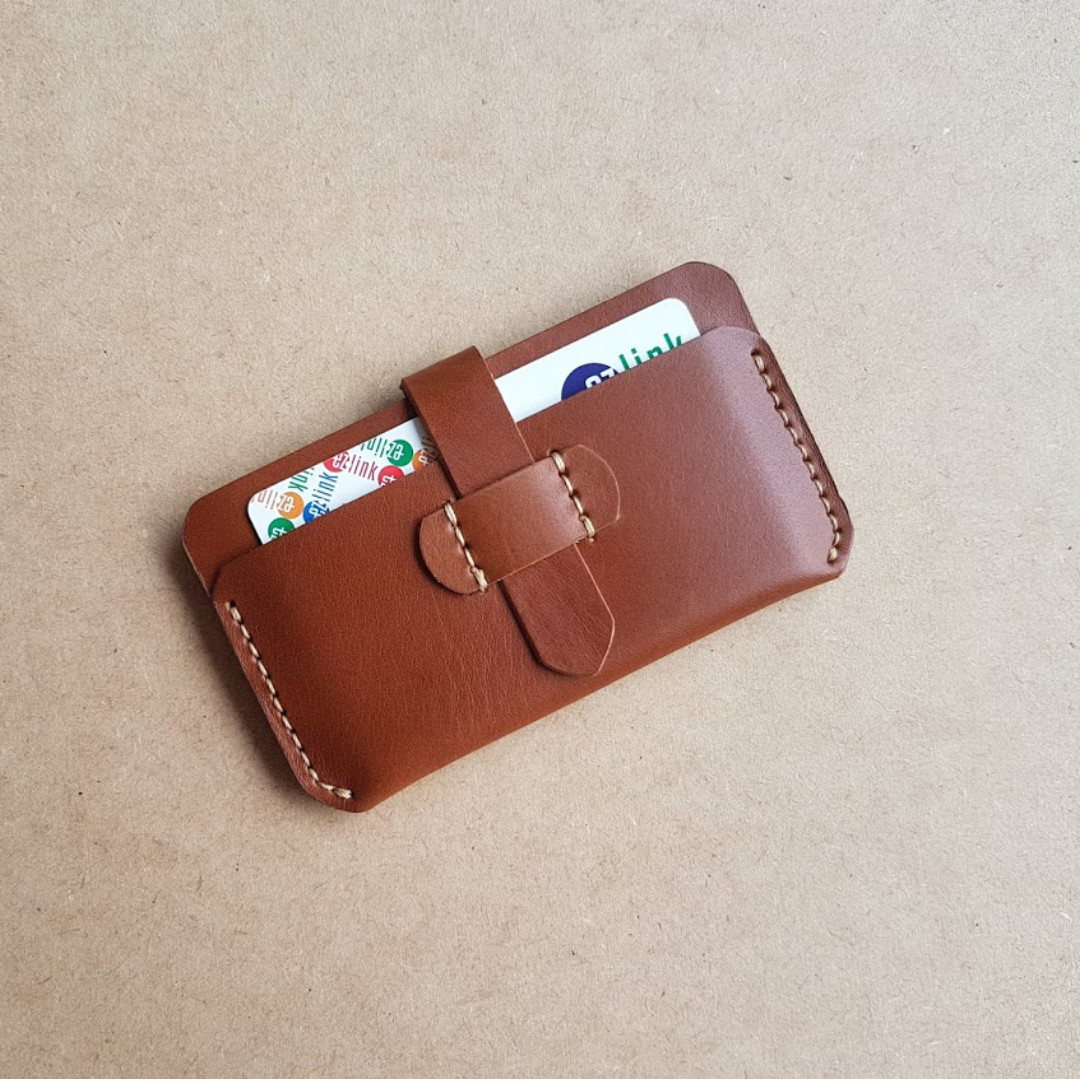 Handmade italian vegetable leather card wallet & leather card case ...