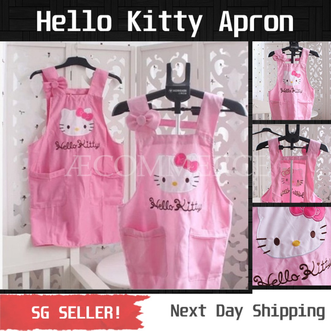 8b2d106a1 Hello Kitty Apron: Pink / Rose, Women's Fashion, Clothes, Others on  Carousell