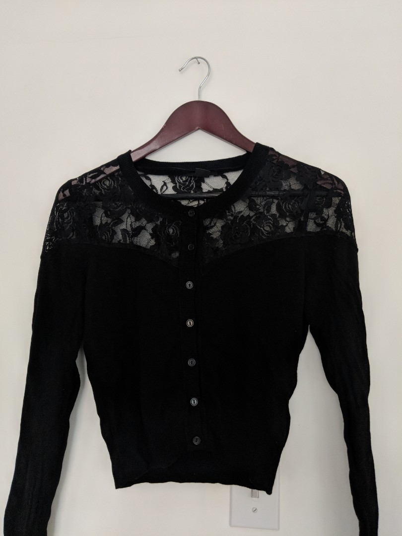 H&M Lace Button Down Cardigan