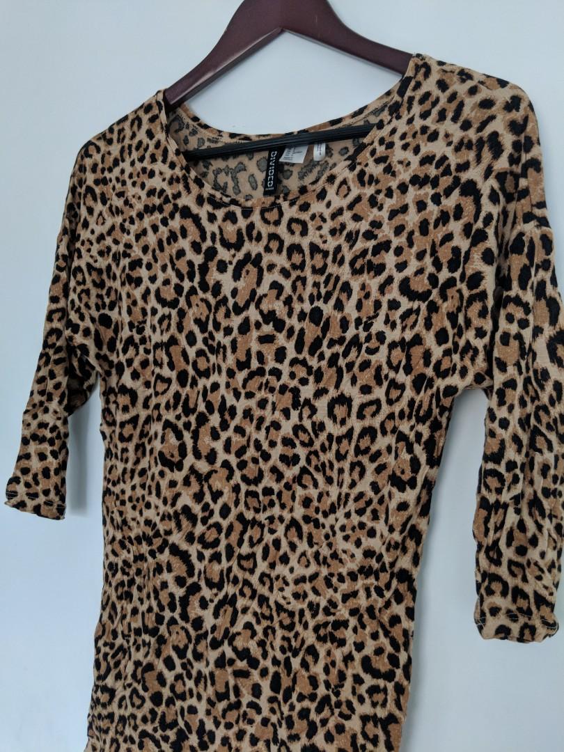 H&M Long Leopard Print Top