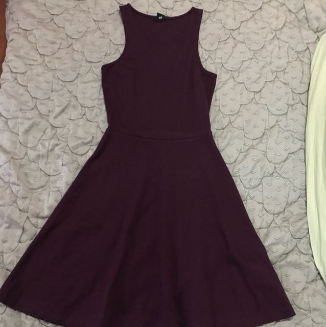 H&M Wine Color Tank dress