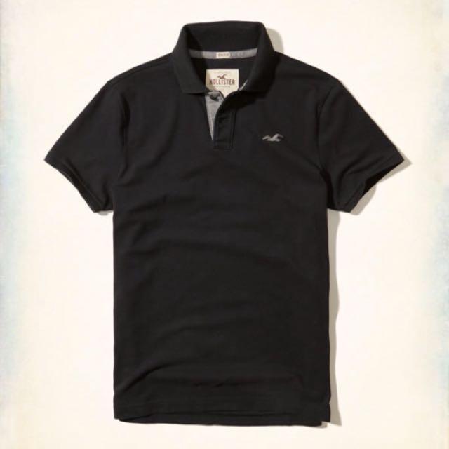 Hollister男士黑色polo衫(正品 現貨)