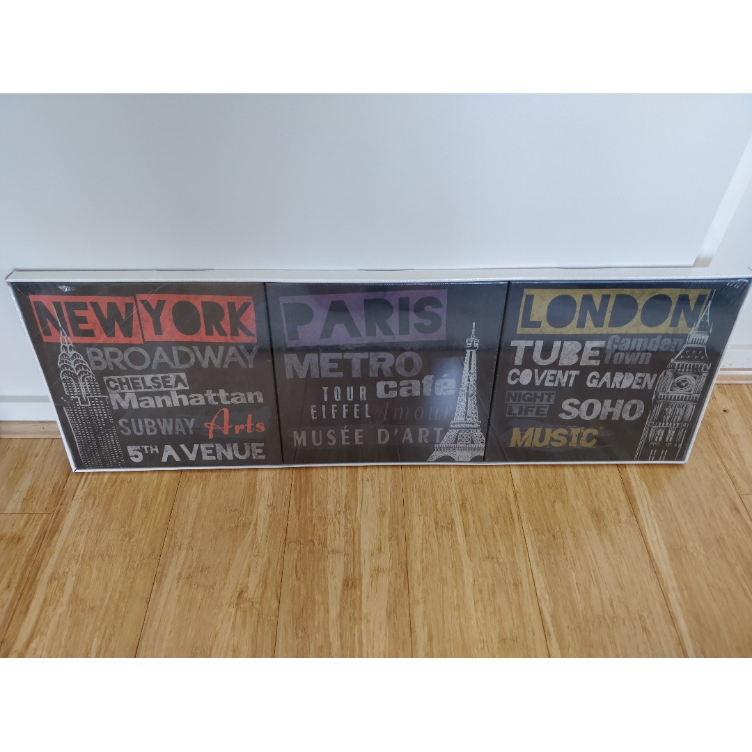 Ikea Canvas Prints Set Of 3 Home Furniture Home Decor On Carousell