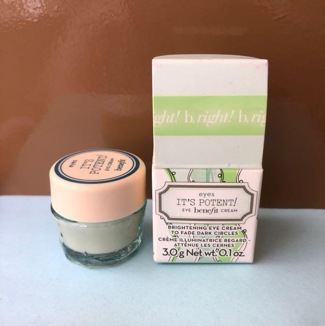 It's Potent! Eye benefit cream