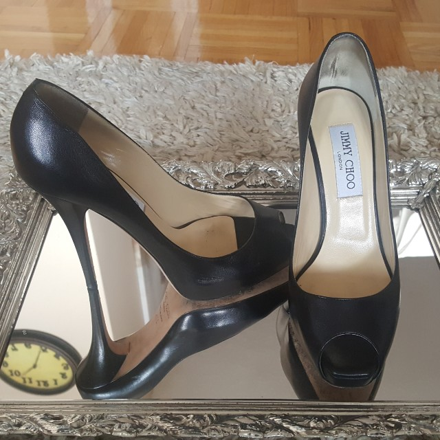 Jimmy Choo classic peep toe heels