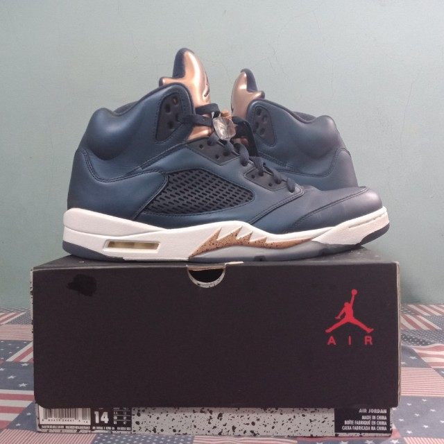 9cd37047f3d680 Jordan 5 Olympic Bronze - Size 14 - Original