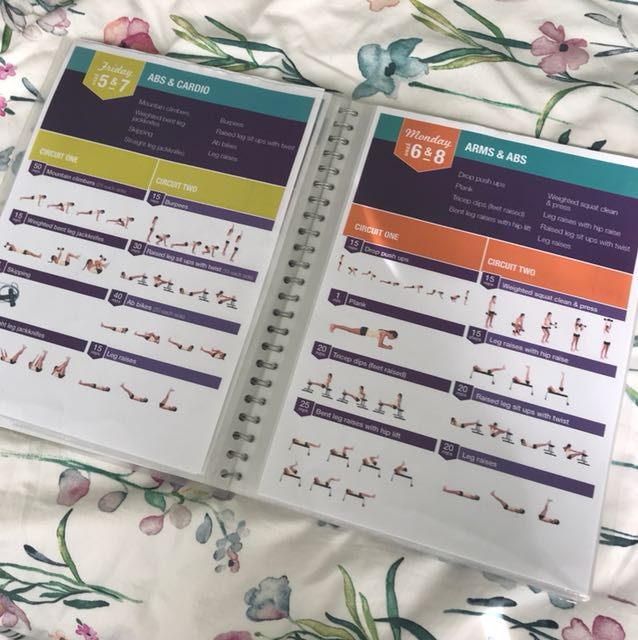 Kayla Itsines printed workout book