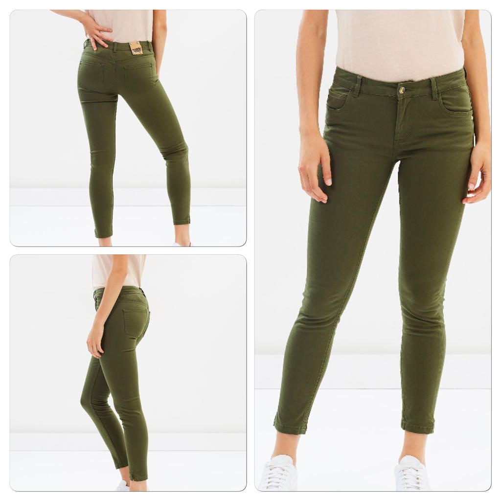 Khaki new with tags eco jeans
