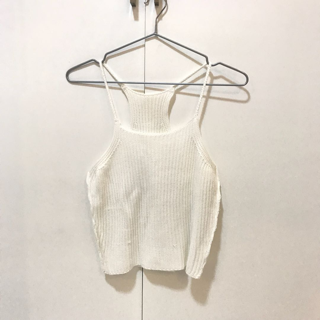 Knitted halter