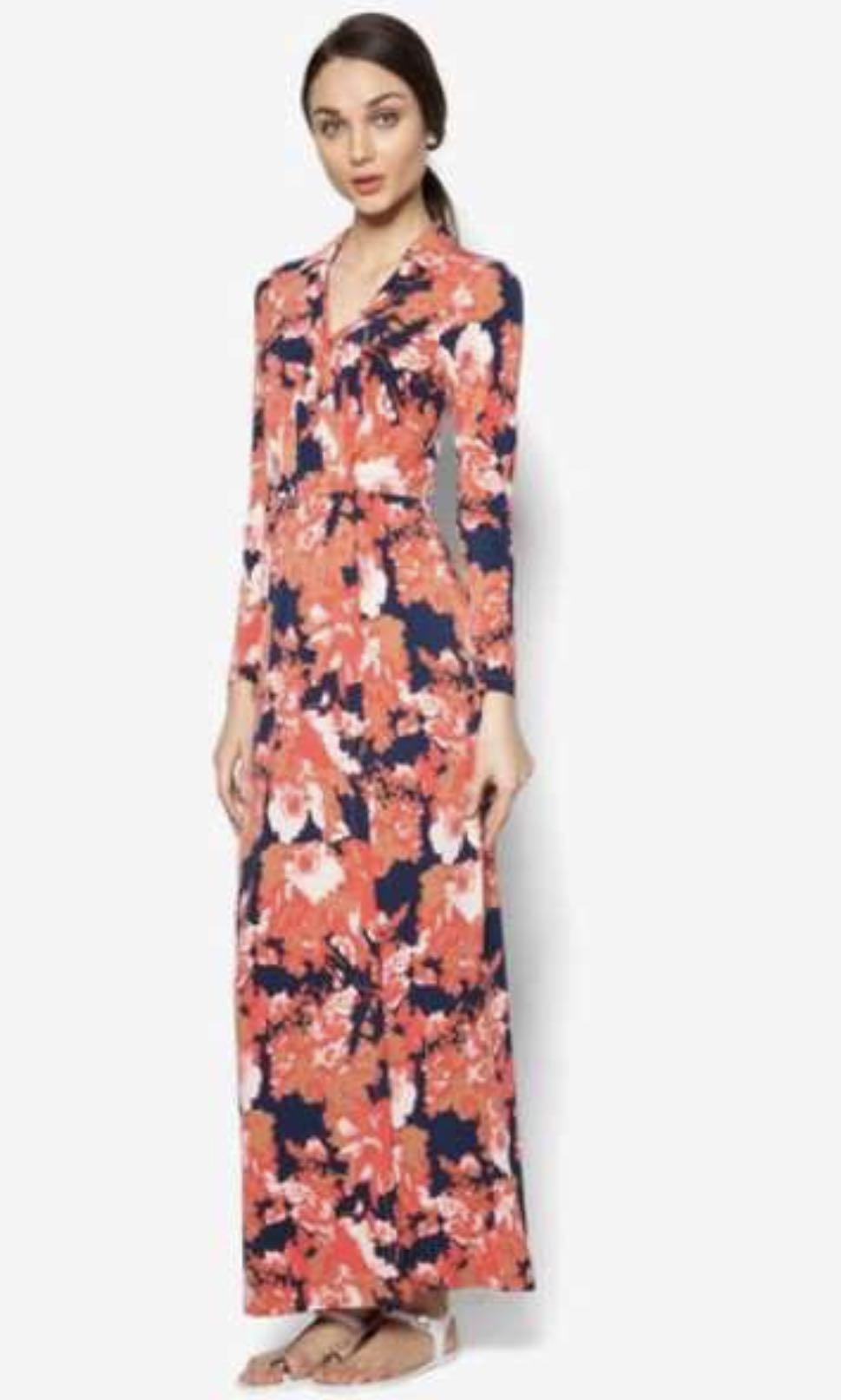 Lubna by zalora printed wrap dress