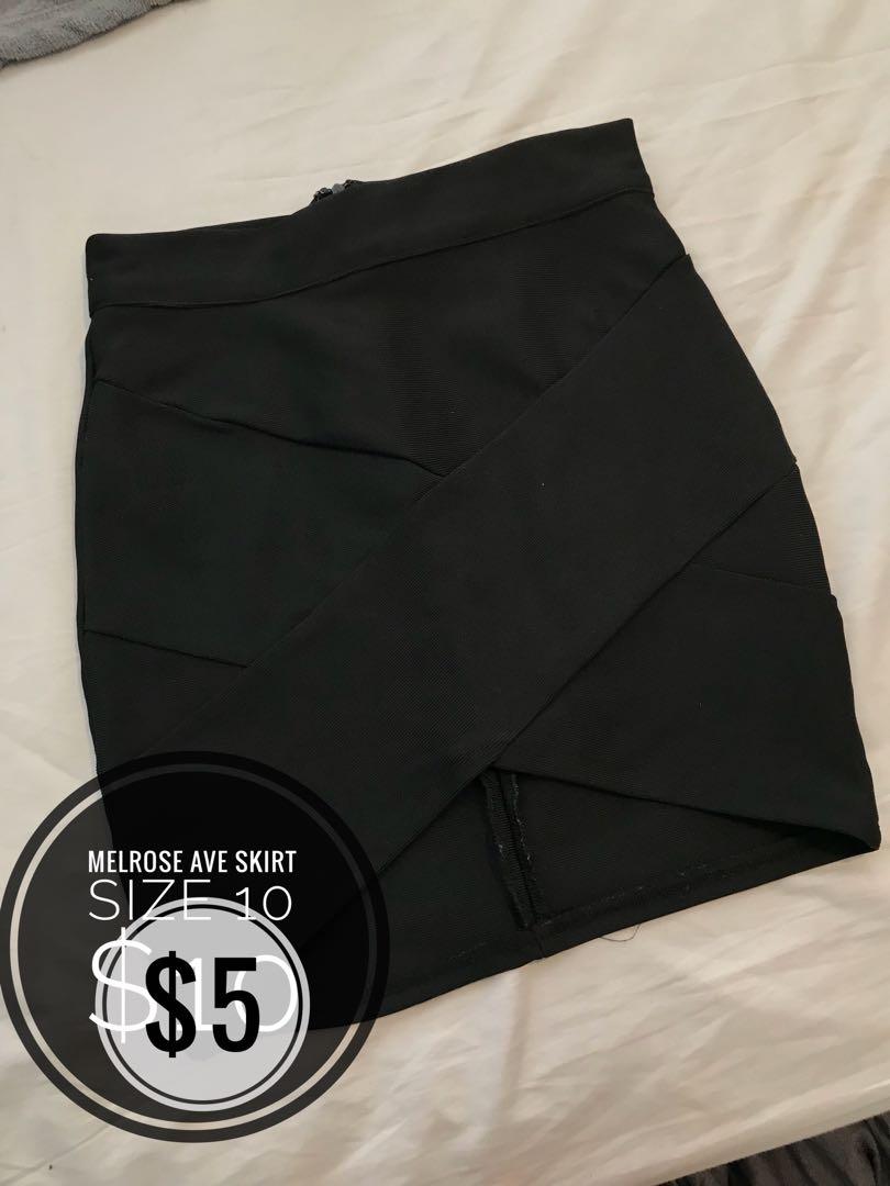 Melrose Ave bandage skirt