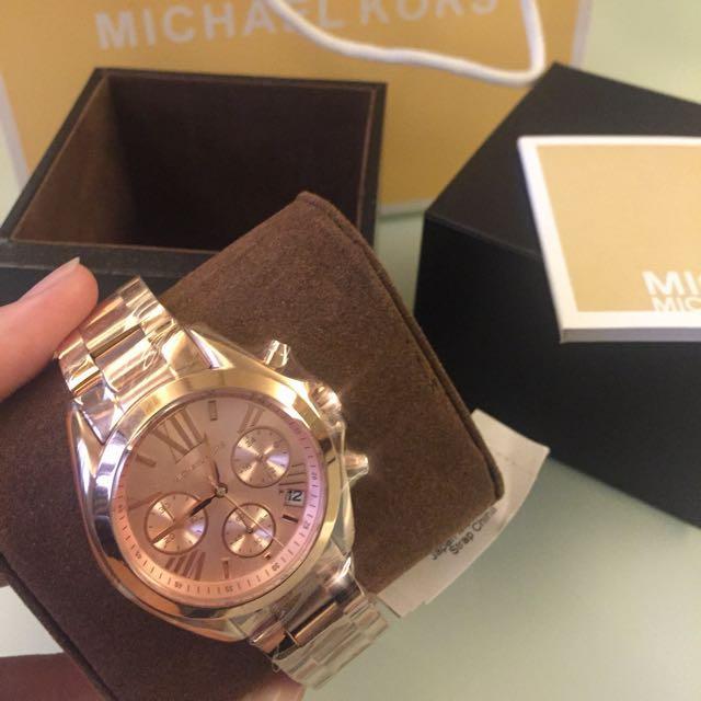 MICHAEL KORS MK手錶 玫瑰金