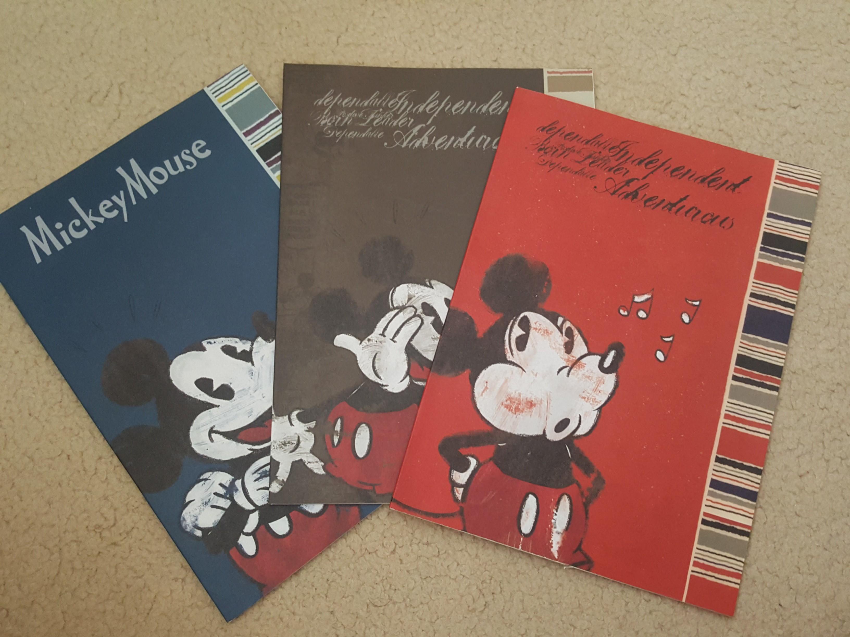 Mickey notebooks