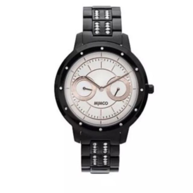Mimco universa jet black rose gold watch