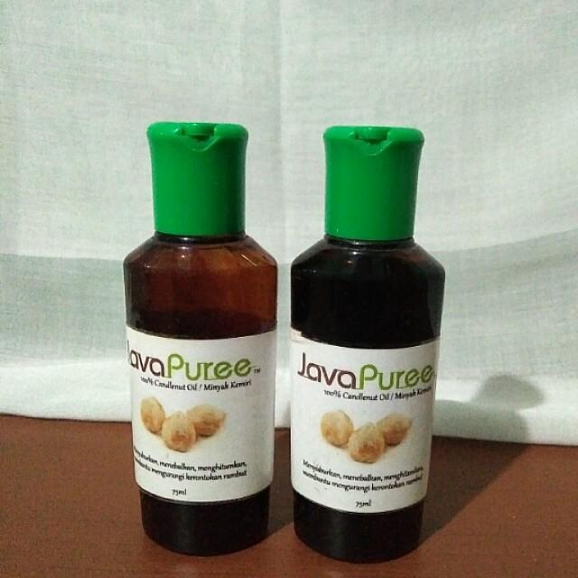 minyak kemiri 100% alami tanpa campuran, kesehatan & kecantikan Minyak Kemiri Warna Biru
