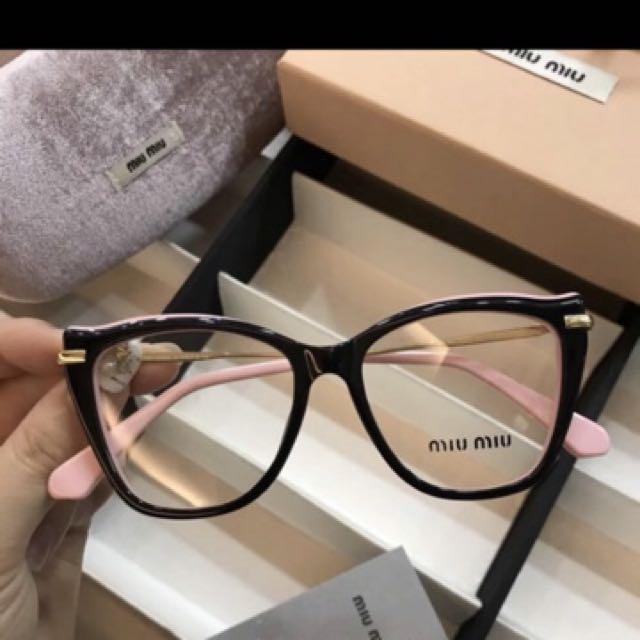 Miu Miu Glasses 謬謬粉色膠框眼鏡