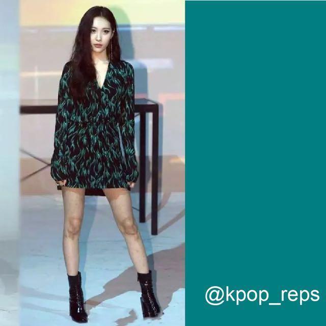 Moss Green Chiffon Dress (SUNMI), Entertainment, K-Wave on