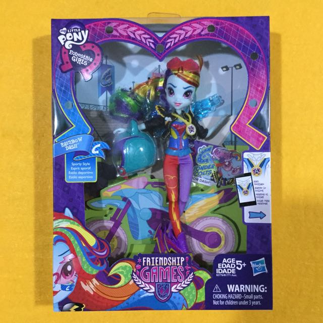 🆕My Little Pony Equestria Girls Rainbow Dash Sporty Style Motocross Doll