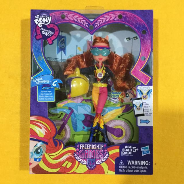 🆕My Little Pony Equestria Girls Sunset Shimmer Sporty Style Motocross Doll