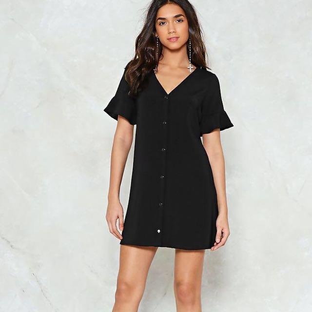 Nasty gal black dress size 8