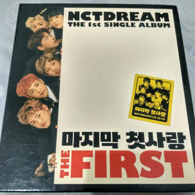 Nct Dream My First And Last Album 1st Press Fullset