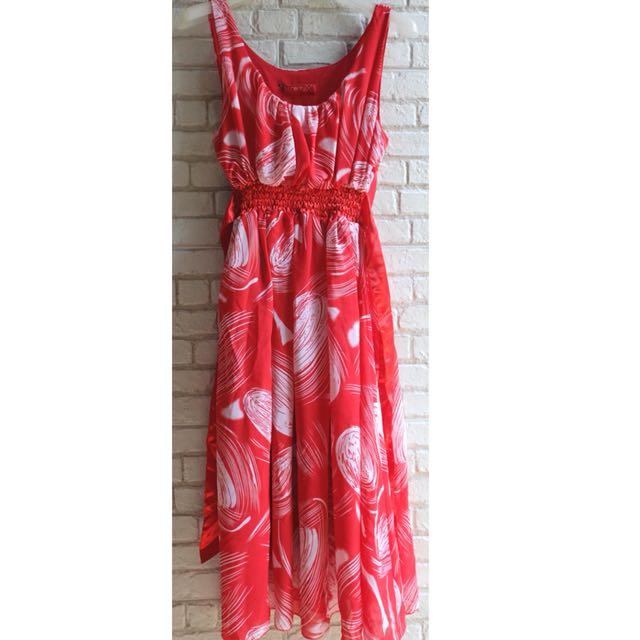 [NEW] Dress Midi Merah Theory X