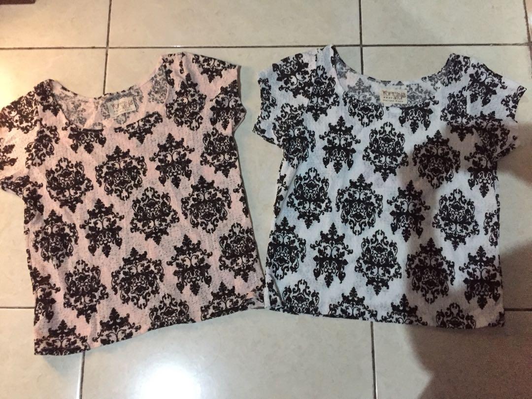 New! Sisa butik! Printed victorian blouse