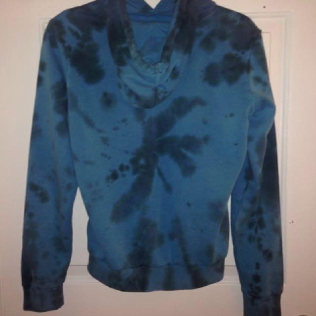 Nike blue tie dye hoodie