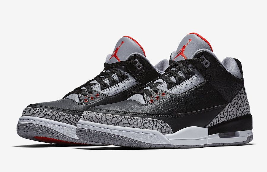 9df358cc84b Nike Jordan 3 Black cement, Men's Fashion, Footwear on Carousell
