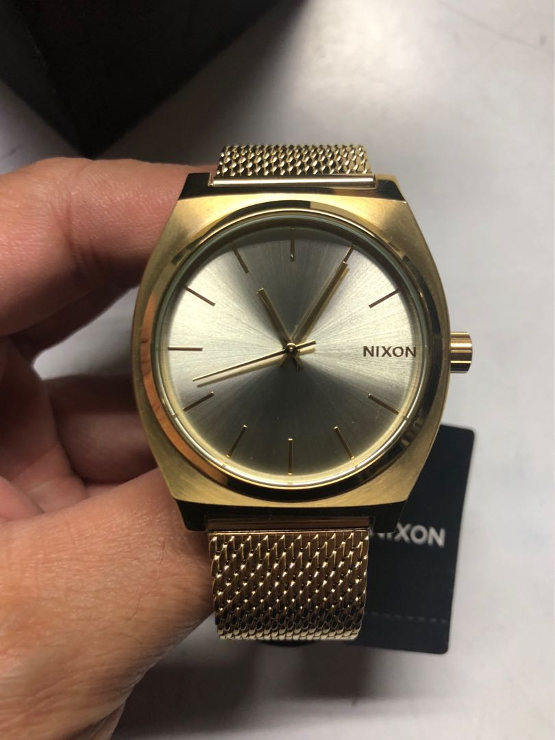 7dc23eb2e Nixon Time Teller Milanese (Gold) on Carousell