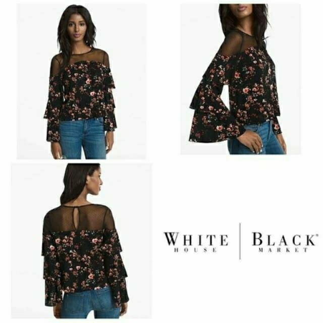 WHBM flower off shoulder