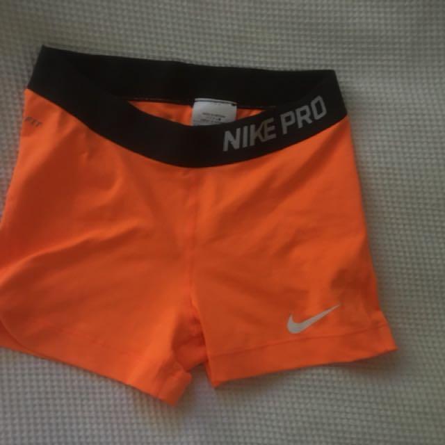 Orange Nike Pros