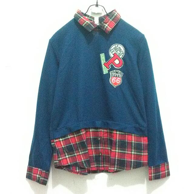 Patches Flannel Top