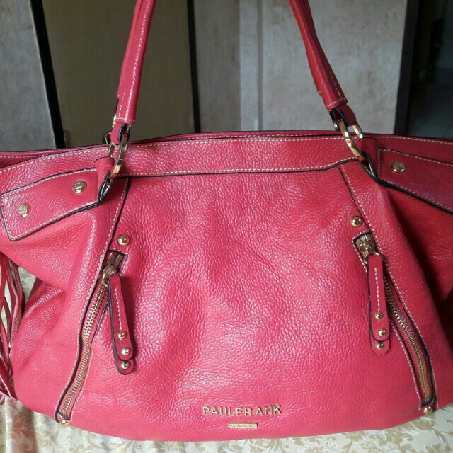 Paul Frank Faux Leather Large Tote Bag