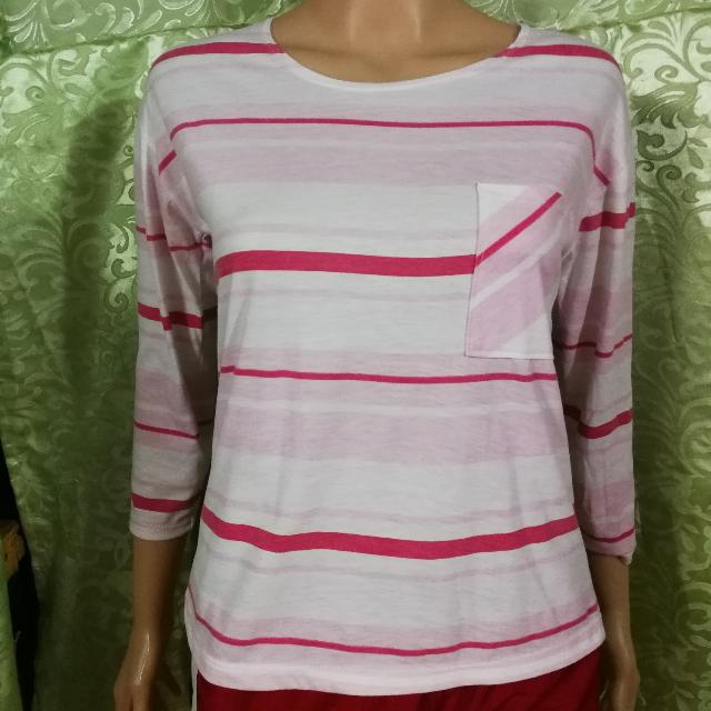 Pink White Stripes Longsleeves