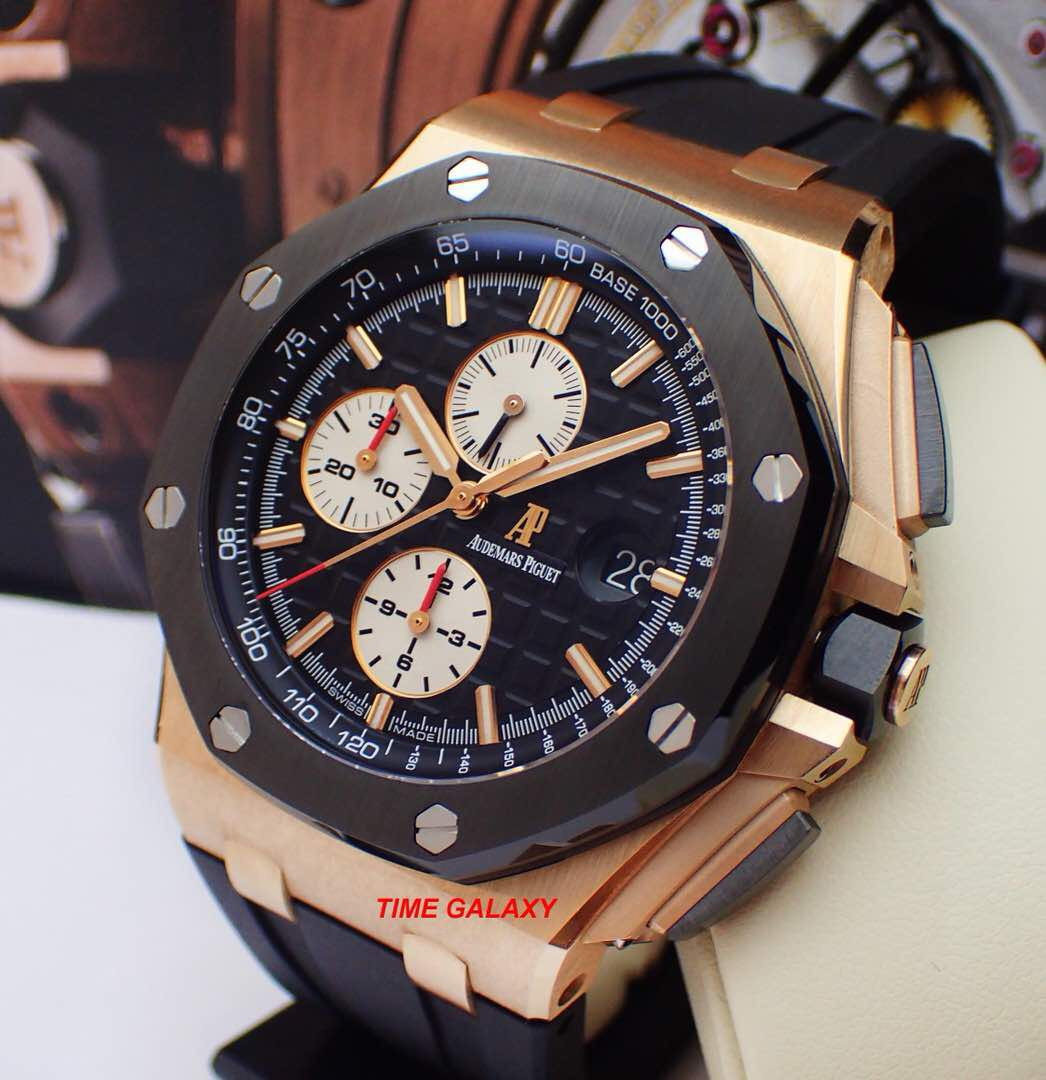 Preowned Audemars Piguet Royal Oak Offshore 44mm Solid Rose Gold Automatic  Chronograph with Ceramic Bezel  Model 26401 RO OO A002  Swiss Made