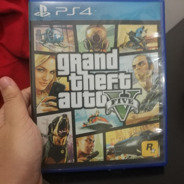 PS4 Game GTA V w Map