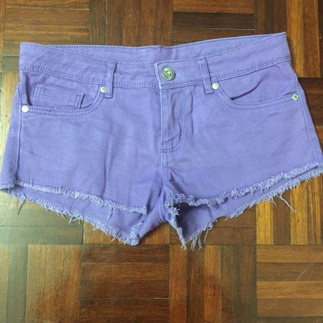 Purple Denim Shorts #Bajet20