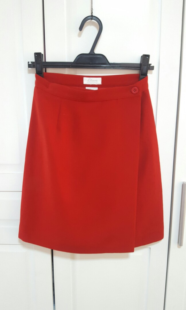 Red A-Line Skirt (Office / Casual)