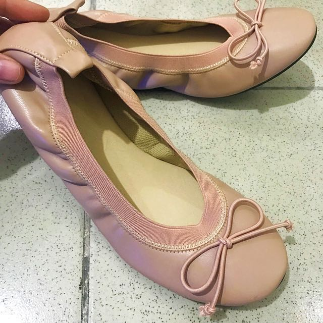 REPRICED: Salmon Pink Ballet Shoes 8-8.5