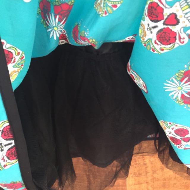 Revival Sugar Skull Skirt - Dangerfield size 8