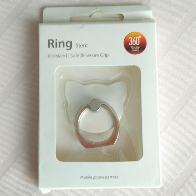 Ring Stent - iRing - Pearl White Cat Shape