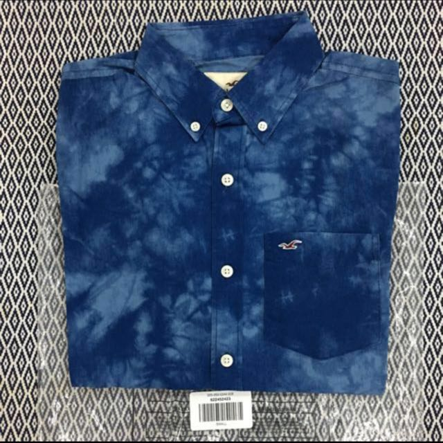 (S) Authentic Hollister Washed Poplin Shirt