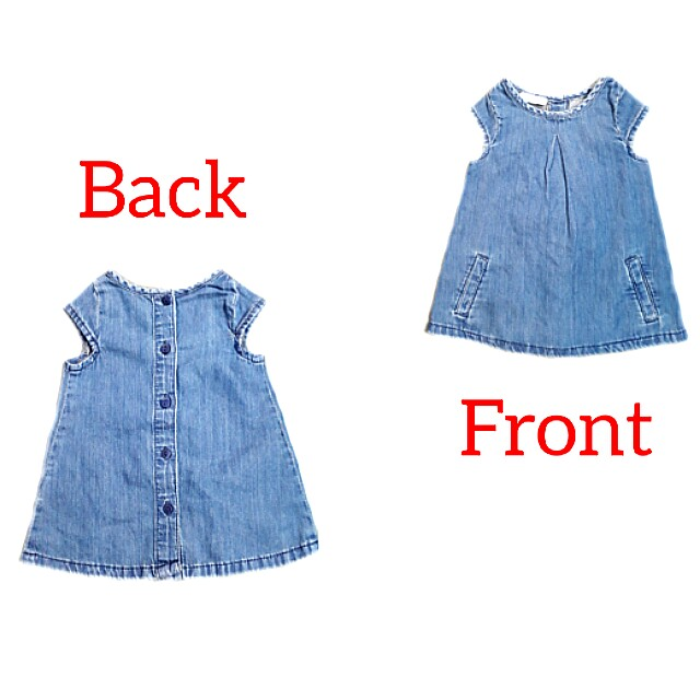 Soft denim blouse for toddlers