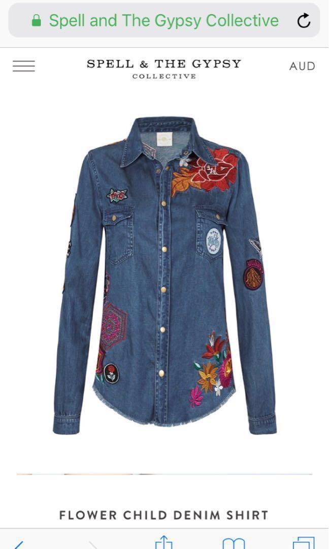 💕spell designs wild child jacket shirt 🌿 size Xs