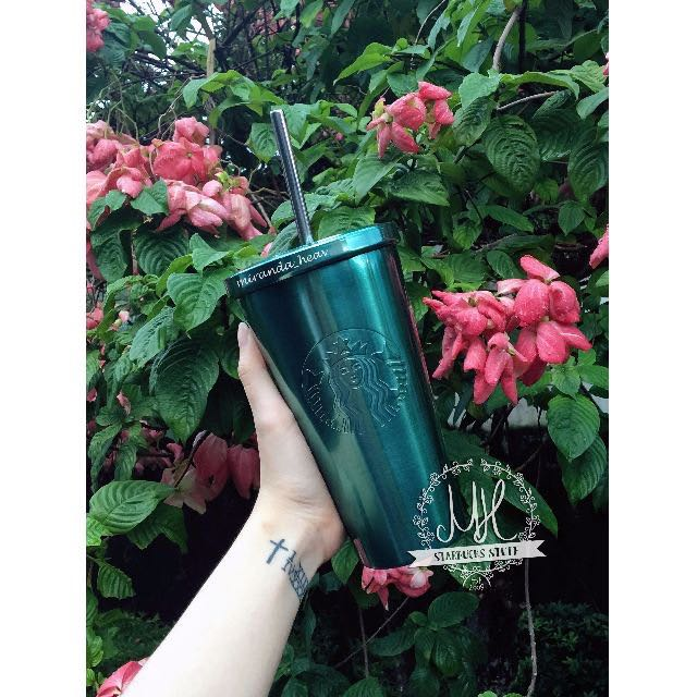 Starbucks USA Green Glossy Cold Cup